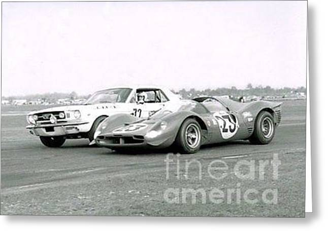 Classic Cars Greeting Card by TSB Art Gallery Dennis Thompson Jr Curator Photographer