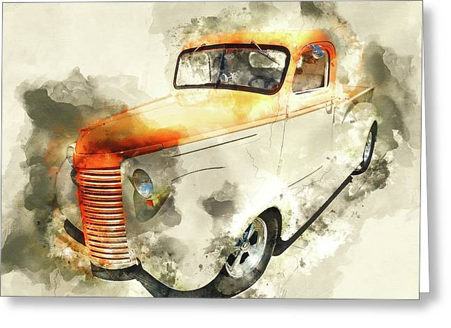 Classic Chevrolet Pickup Truck Greeting Card by Kevin O'Hare