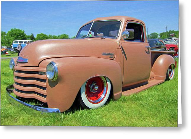 Classic Chevrolet Truck Greeting Card by Marion Johnson