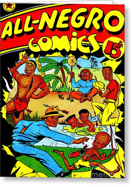 Classic Comic Book Cover All Negro Comics Greeting Card by Wingsdomain Art and Photography