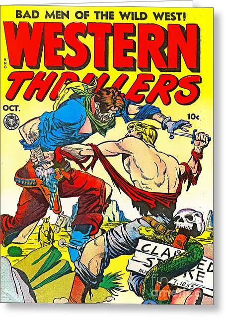 Old Comic Book Cover Texture : Classic comic book cover western thrillers october