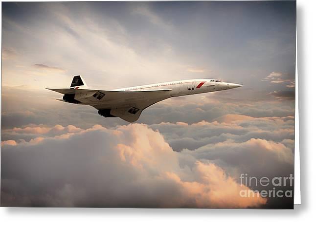 Classic Concorde Greeting Card by J Biggadike