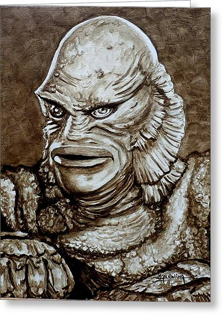 Classic Creature From The Black Lagoon Greeting Card by Al  Molina