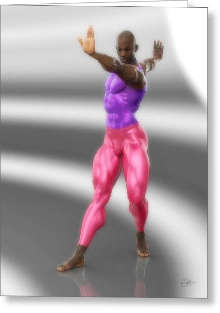 Classic Dancer In Meshes Greeting Card
