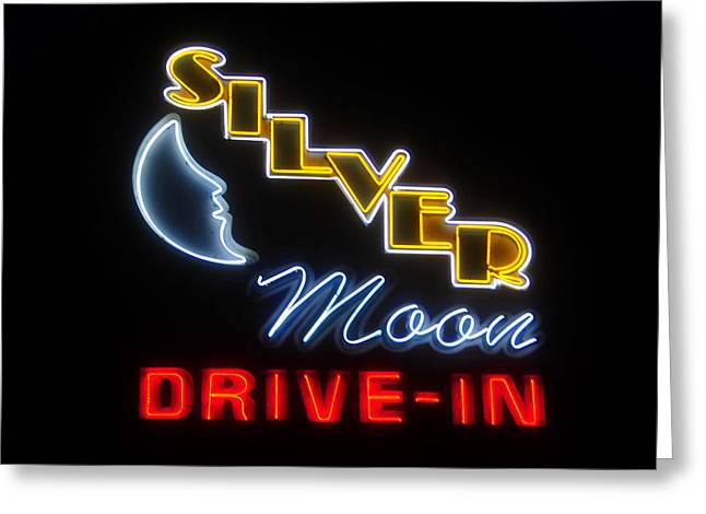 Classic Drive In Greeting Card by David Lee Thompson