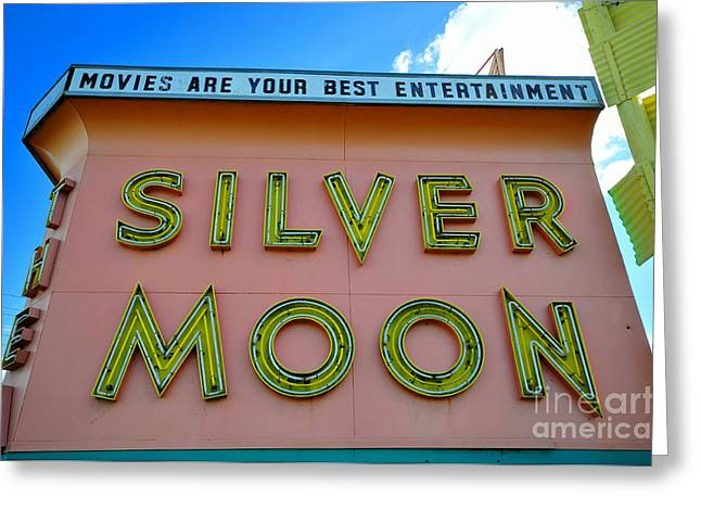 Classic Drive Inn Movie Marquee Greeting Card by David Lee Thompson