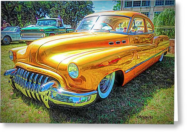 Classic Fifties Buick - Cruising The Coast Greeting Card