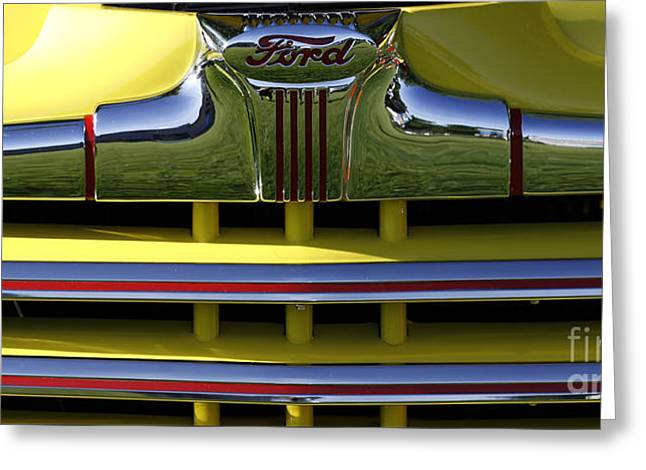 Classic Ford Chrome Grill Greeting Card