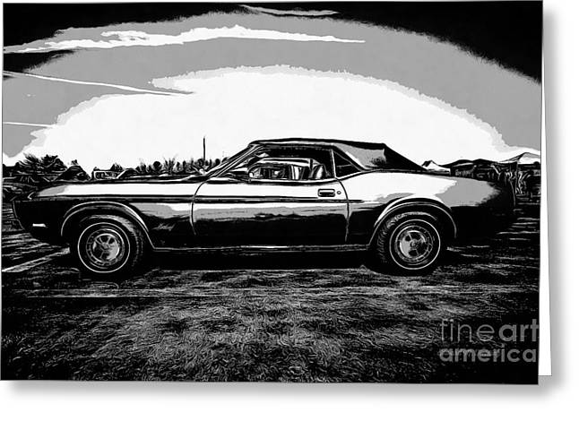 Classic Ford Mustang Greeting Card by Edward Fielding