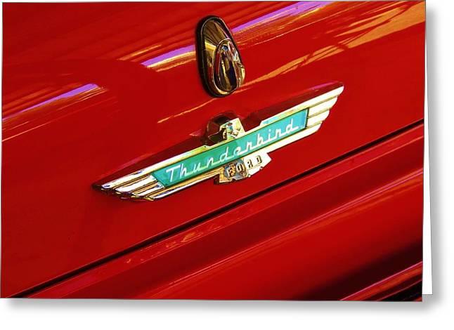 Classic Ford Thunderbird Emblem Greeting Card
