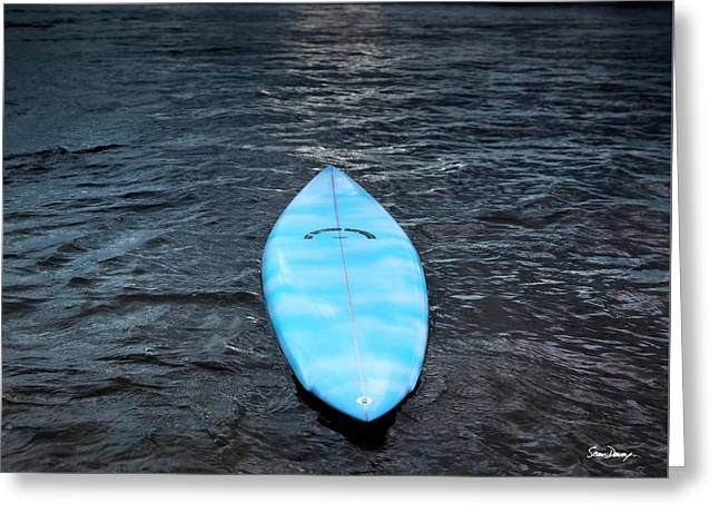 classic Hot Buttered surfboard at Rocky Point, Hawaii Greeting Card by Sean Davey