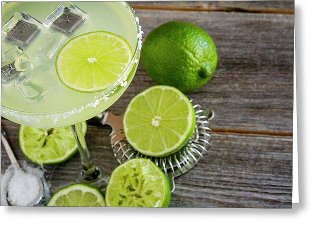 Greeting Card featuring the photograph Classic Lime Margarita by Teri Virbickis