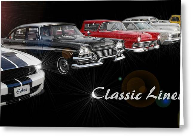 Classic Lineup Greeting Card by David and Lynn Keller
