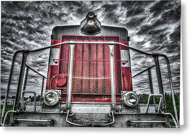 Classic Locomotive Greeting Card by Spencer McDonald