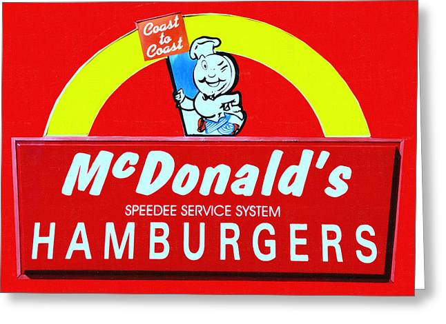 Classic Mcdonald's Hamburgers - Billion Served - Painterly Greeting Card