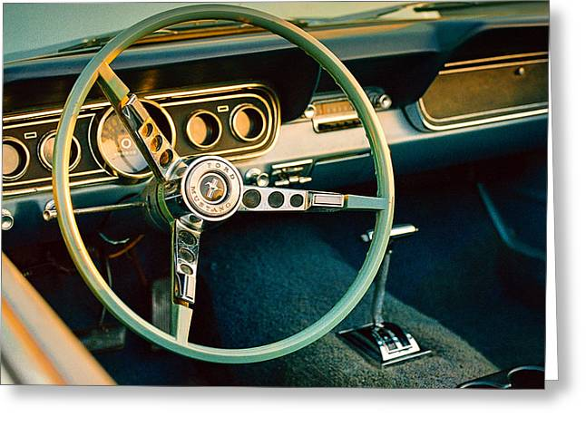 Classic Mustang Steering Wheel Greeting Card