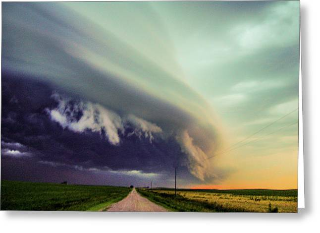 Classic Nebraska Shelf Cloud 024 Greeting Card