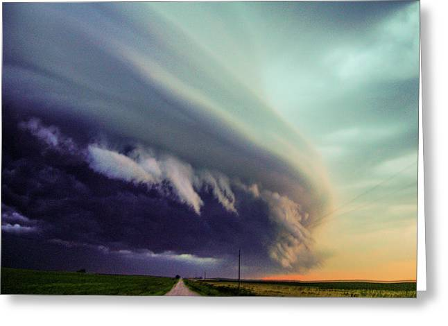Classic Nebraska Shelf Cloud 027 Greeting Card