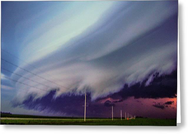 Classic Nebraska Shelf Cloud 028 Greeting Card