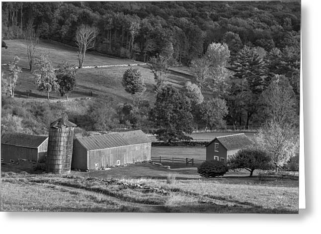 Classic New England Bw Greeting Card