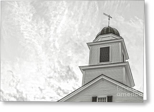 Classic New England Church Etna New Hampshire Greeting Card by Edward Fielding