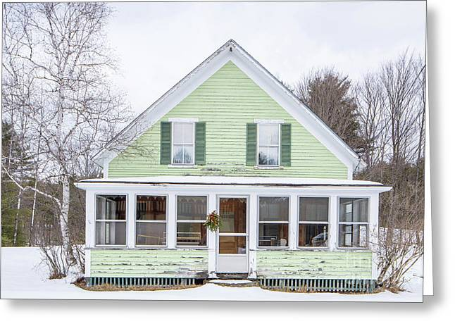 Greeting Card featuring the photograph Classic New Englander Home by Edward Fielding