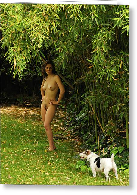 Classic Nude And Companion  Greeting Card