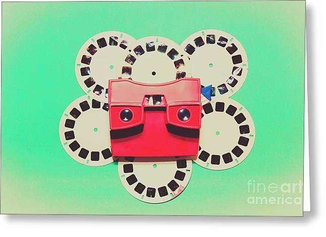 Classic Old Media Slide Show Viewer Greeting Card by Jorgo Photography - Wall Art Gallery