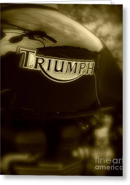 Classic Old Triumph Greeting Card