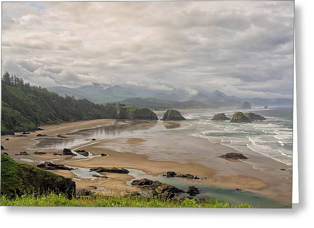 Classic Oregon Coast Greeting Card by Loree Johnson