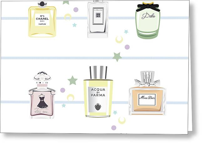 Classic Perfumes Greeting Card