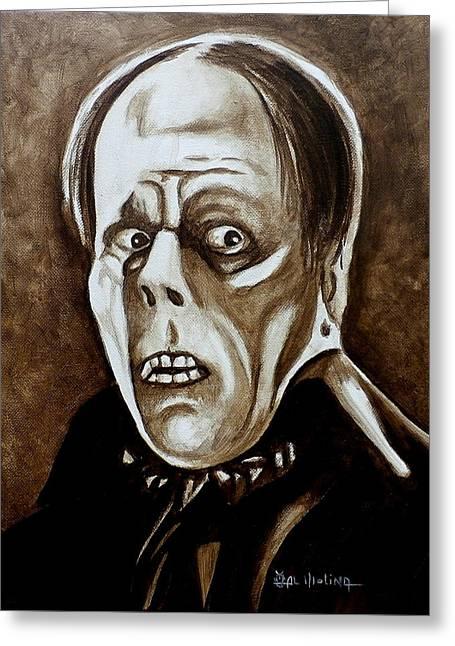 Classic Phantom Of The Opera Greeting Card by Al  Molina