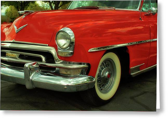 Classic Red Chrysler Greeting Card