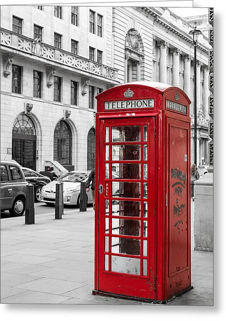 Red Telephone Box In London England Greeting Card