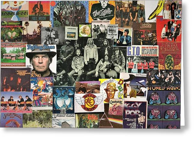 Classic Rock Collage Featuring The Allman Brothers Greeting Card