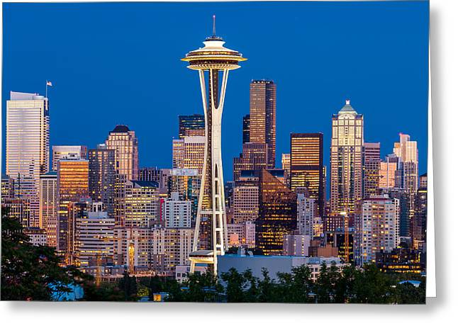 Classic Seattle Greeting Card