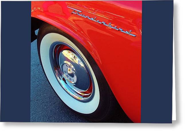 Classic T-bird Tire Greeting Card