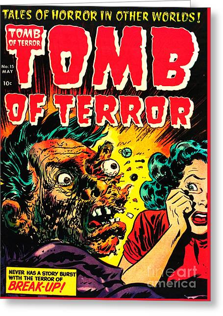 Classic Tomb Of Terror 15 Greeting Card by Halloween Dreams