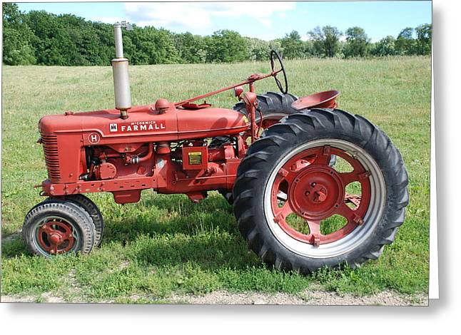 Classic Tractor Greeting Card