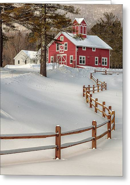 Classic Vermont Barn Greeting Card