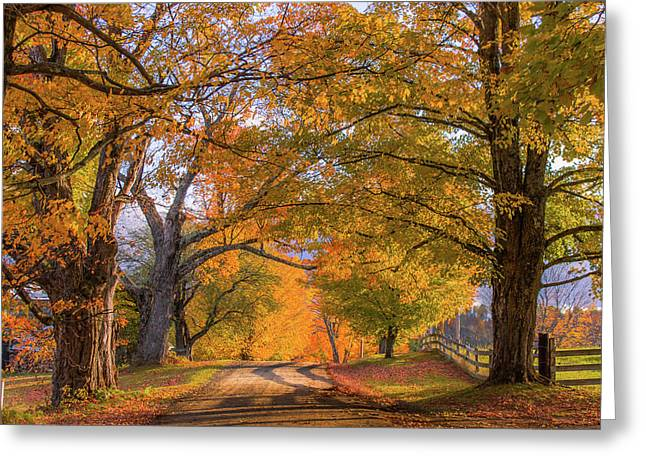 Classic Vermont Fall Greeting Card