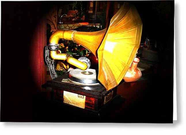 Okotoks Greeting Cards - Classic Victor V Phonograph Greeting Card by Al Bourassa
