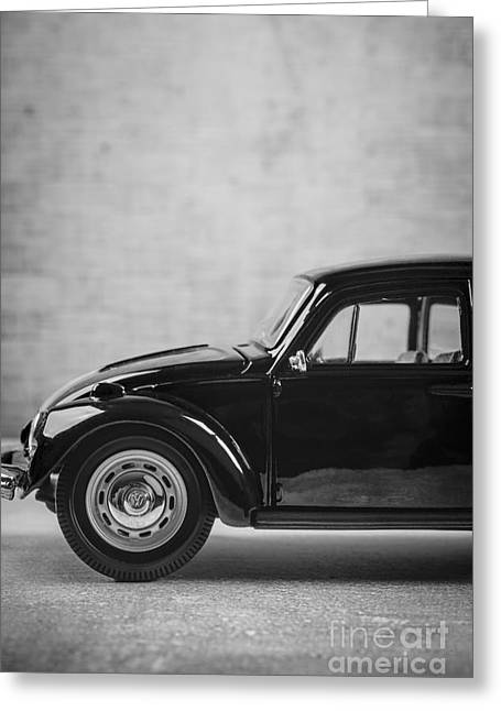 Classic Vw Beetle Car Greeting Card by Edward Fielding