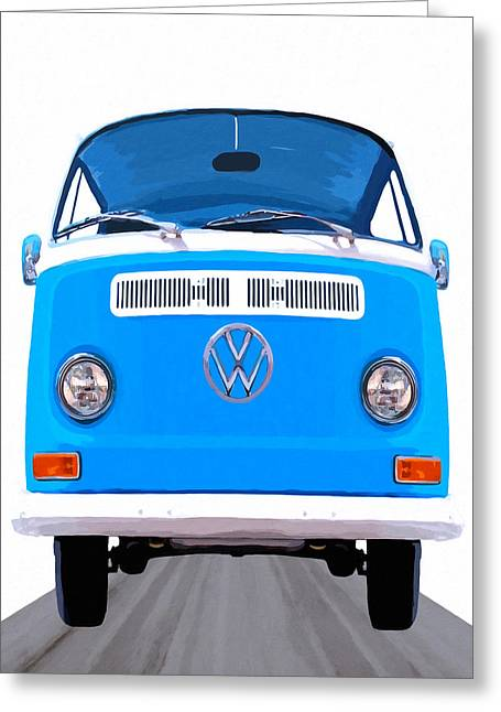 Classic Vw Van - On The Road Again Greeting Card