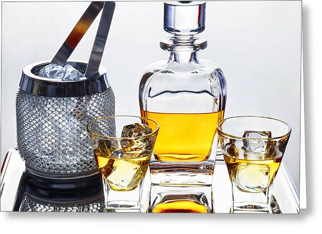 Classic Whiskey Serving Greeting Card by George Oze
