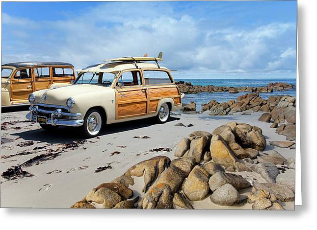Classic Woodies Greeting Card by Sean Davey