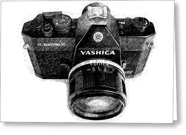Classic Yashica Slr Film Camera Greeting Card