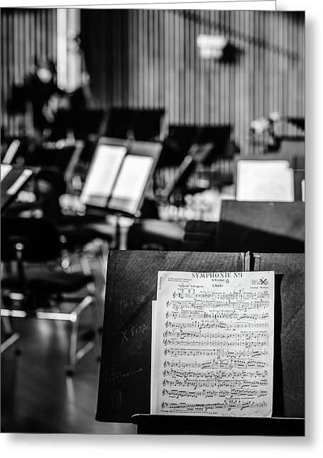 Classical Sheet Music Greeting Card by Marco Oliveira