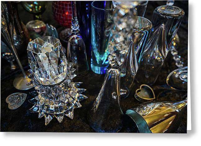 Classy Glass Greeting Card by Kenneth James