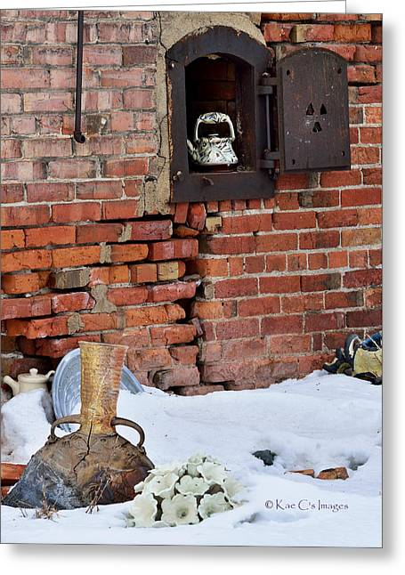 Greeting Card featuring the photograph Classy Pottery Remnants by Kae Cheatham